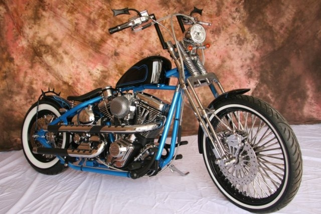 Springers Custom Cycles Hera Multi Blue motorcycle